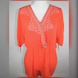 Flying tomato boho surplice romper